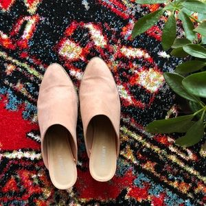 Old Navy faux suede mules size 7.5